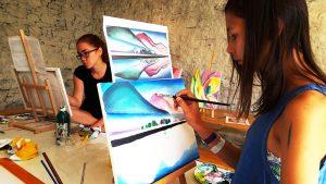 festő tábor workshop