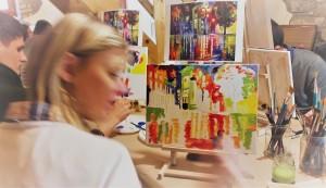 csapatépítő festő workshop