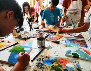 muveszeti tabor festmények anita püspök művész műterem kapolcs